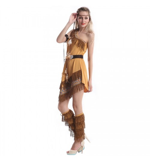 TN - Cosplay Ladies Fancy Dress Costumes Wild West Pocahontas Indian Costume