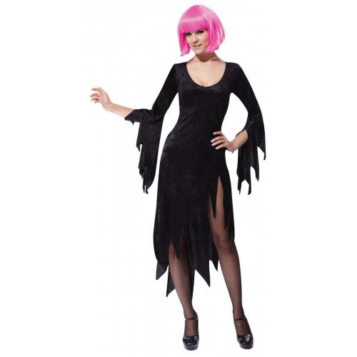 Ladies Green Siren Wig Adult Halloween Witch Vampire Fancy Dress Accessory Women
