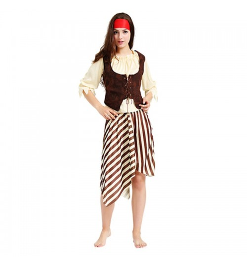 MABOOBIE - Pirate Captain Halloween Party Outfit Womens Fancy Dress Costume