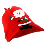 LX - Christmas Table Decor Large Santa Claus Candy Gift Stocking Bag Presents Sack