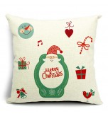 LX - New Year Xmas Home Decor Cotton Cushion Cover Throw Sofa Pillow 17 Inch Father Christmas