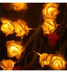 YIYANG - 20LED Rose LED String Lights Battery Wedding Birthday Decoration Lightings Rose