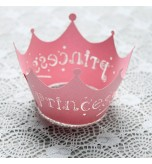 DODO - 12 Pcs Set Princess Crown Paper Vine Lace Cup Cake Wrappers Party Birthday Decoration