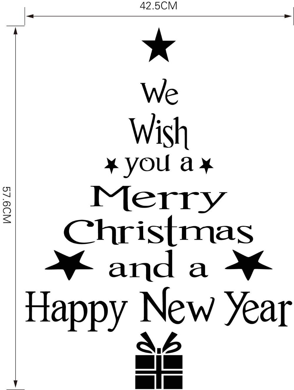 Oem wall window sticker merry christmas happy new year sticker item specifics classification for wall amipublicfo Gallery